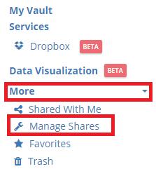 Manage shares