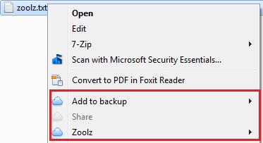 context menu 1