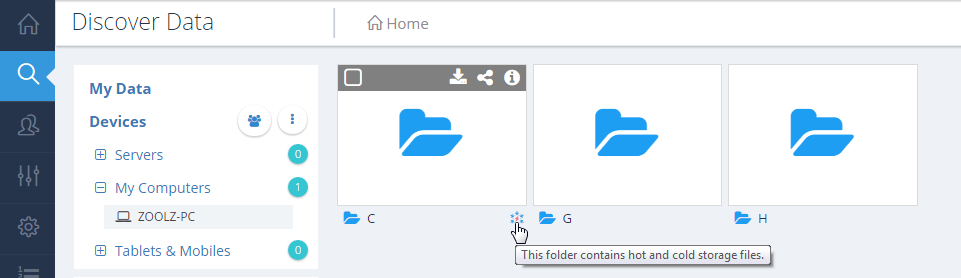 Folder with Cold Storage