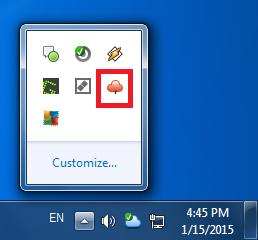 Restore - Tray icon