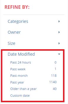 Refine By Date Modified
