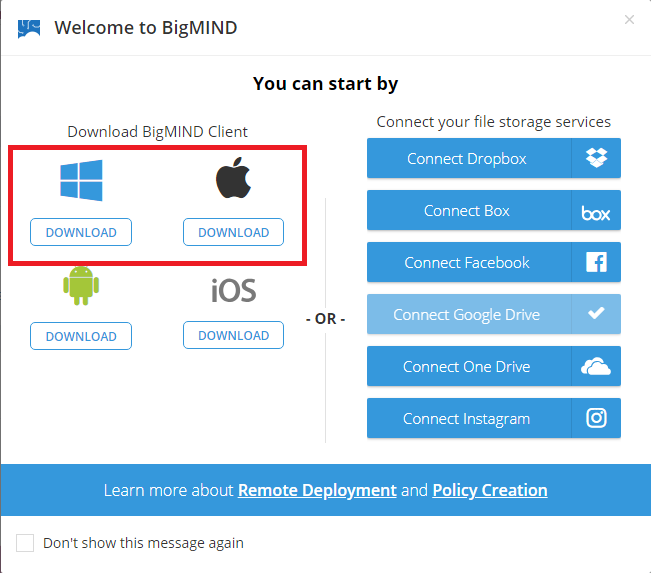How to Configure a Backup in BigMIND – Zoolz Wiki